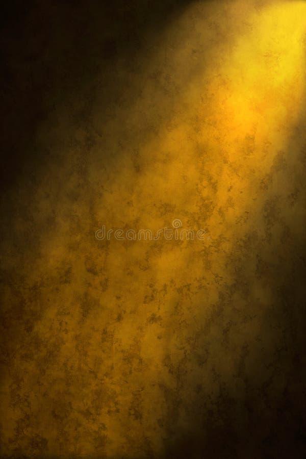 Priorità bassa astratta gialla dorata del Brown fotografia stock