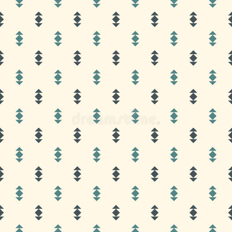 Priorità bassa astratta minimalista Stampa moderna semplice con le frecce Il blu colora il modello senza cuciture con le figure g fotografia stock