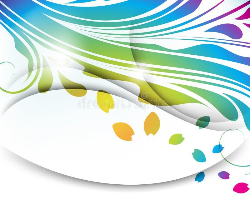Priorità bassa astratta multicolore del foglio di vettore illustrazione vettoriale