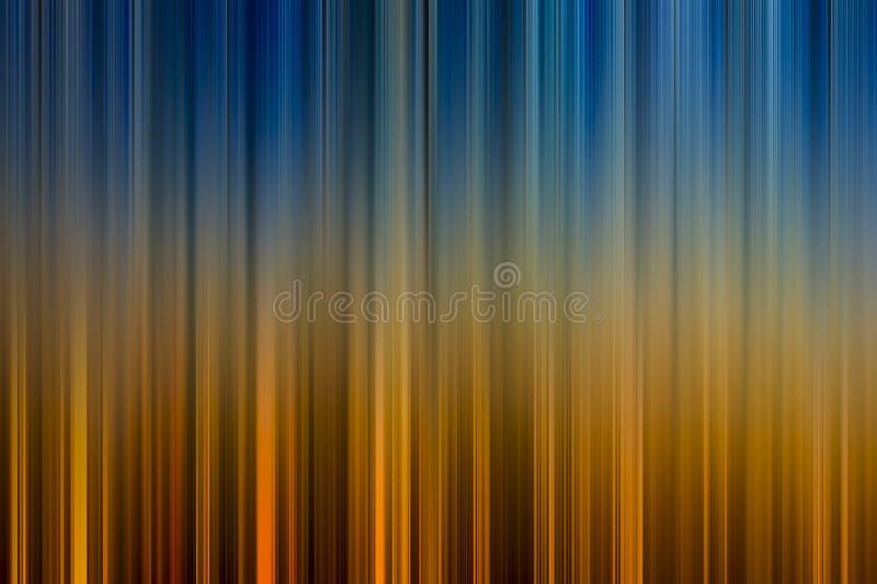 Priorità bassa astratta nei toni blu ed arancioni illustrazione vettoriale