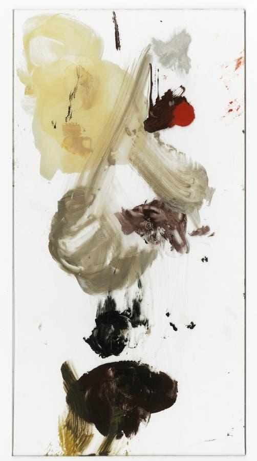 Priorità bassa astratta, pitture ad olio tavolozza di arte di acrilico, pitture ad olio fondo scenico variopinto astratto immagine stock