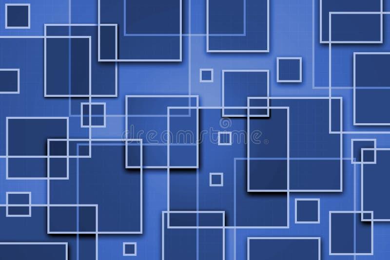 Priorità bassa astratta quadrata illustrazione vettoriale