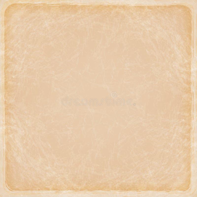 Priorità bassa astratta sporca del grunge Vecchio backg di carta marrone di struttura illustrazione vettoriale