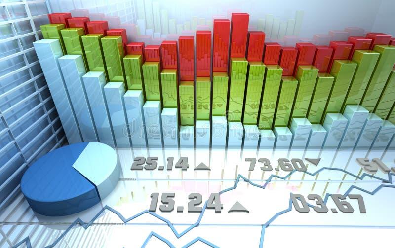 Priorità bassa astratta variopinta del mercato azionario illustrazione di stock