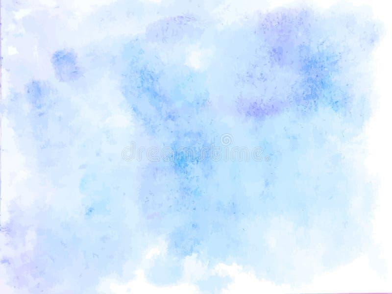 Priorità bassa astratta variopinta di vettore Macchia blu molle dell'acquerello royalty illustrazione gratis