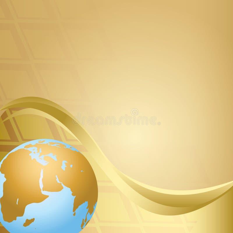 Priorità bassa beige astratta con il globo - vettore royalty illustrazione gratis