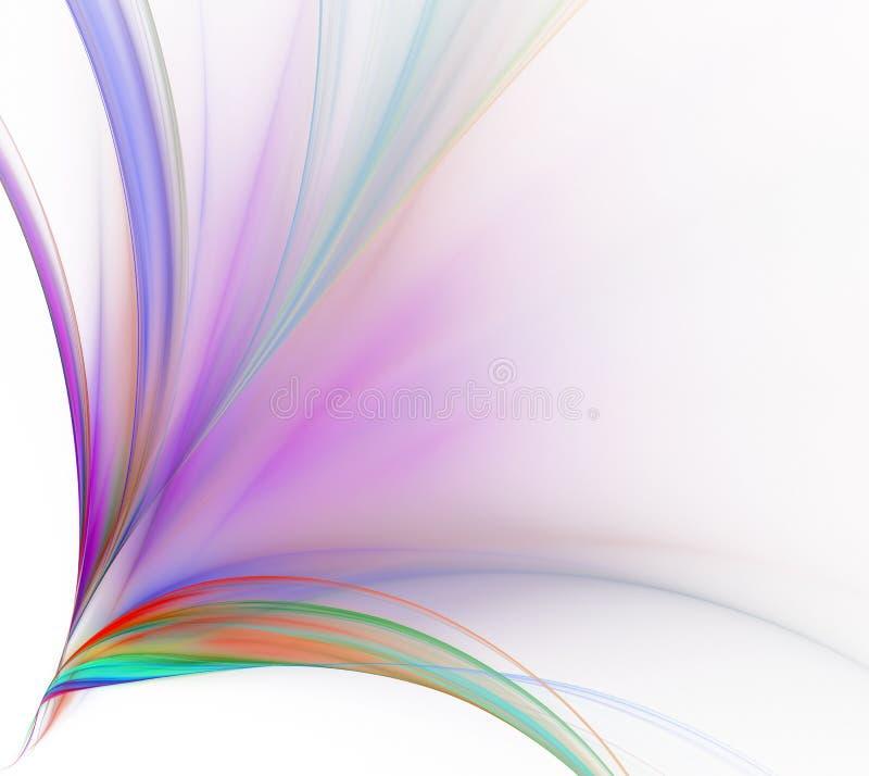 Priorità bassa bianca astratta Esplosione variopinta o mazzo di arcobaleno illustrazione vettoriale