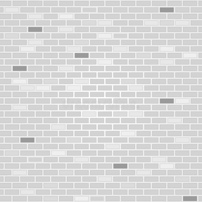 Priorità bassa bianca del muro di mattoni Vettore illustrazione di stock