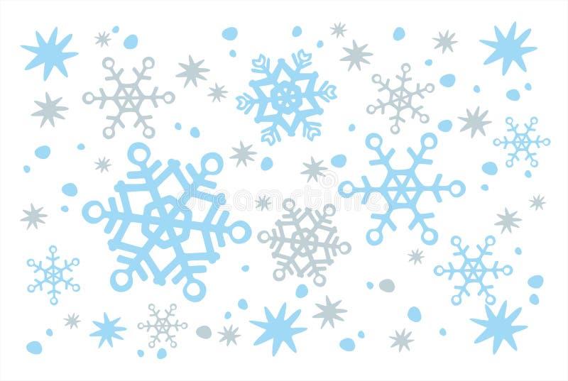 Priorità bassa bianca della neve illustrazione di stock