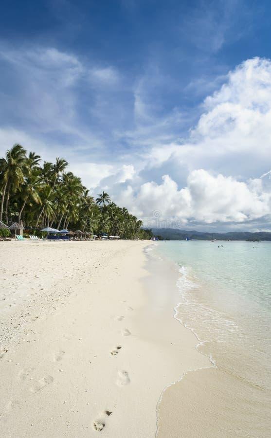 Priorità bassa bianca Filippine della spiaggia dell'isola di Boracay fotografia stock