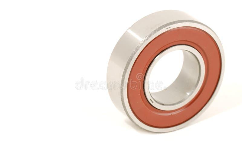 Priorità bassa bianca rossa e d'argento del cuscinetto a sfere fotografie stock libere da diritti