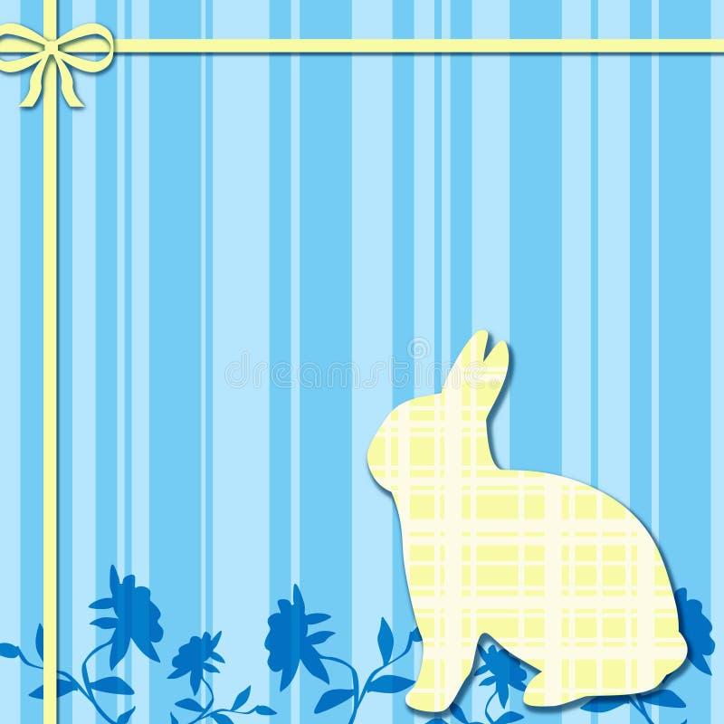 Priorità bassa blu & gialla del coniglietto fotografia stock libera da diritti