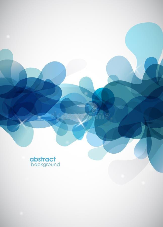 Priorità bassa blu astratta con i cerchi. illustrazione vettoriale