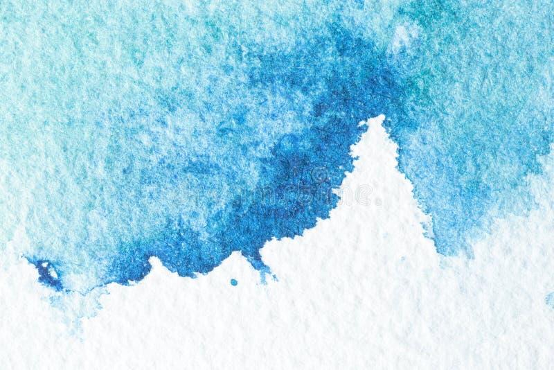 Priorità bassa blu astratta dell'acquerello fotografia stock