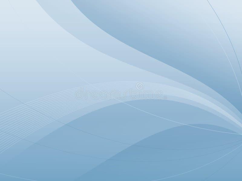 Priorità bassa blu astratta dell'onda illustrazione di stock