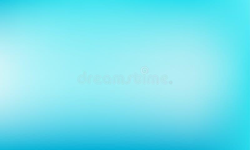 Priorità bassa blu-chiaro Contesto verdastro-blu pastello di colore del turchese di vettore dell'estratto illustrazione di stock