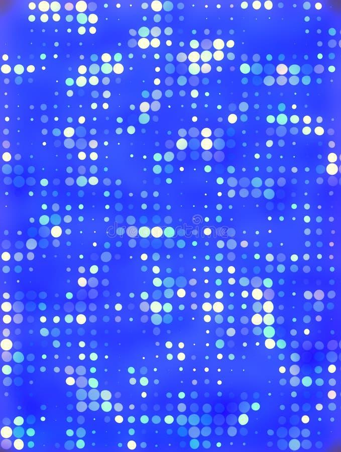 Priorità bassa blu con i puntini royalty illustrazione gratis