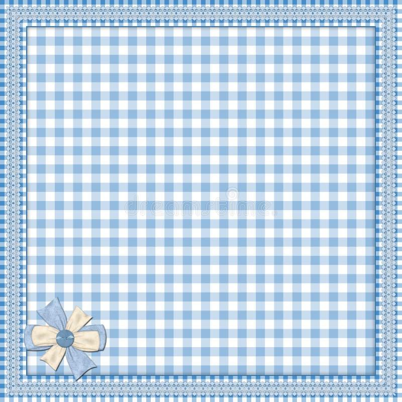 Priorità bassa blu con il blocco per grafici del merletto illustrazione vettoriale