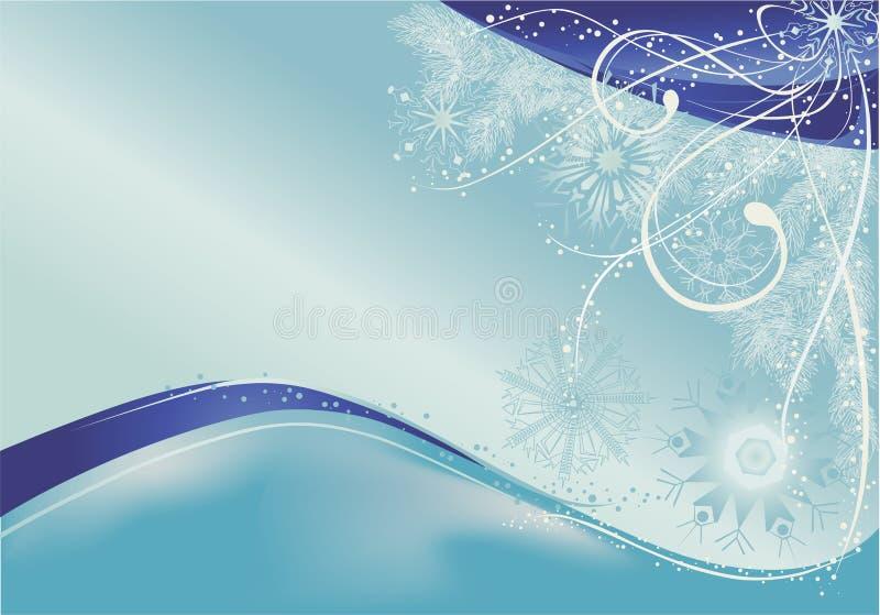 Priorità bassa blu dei fiocchi di neve di natale royalty illustrazione gratis