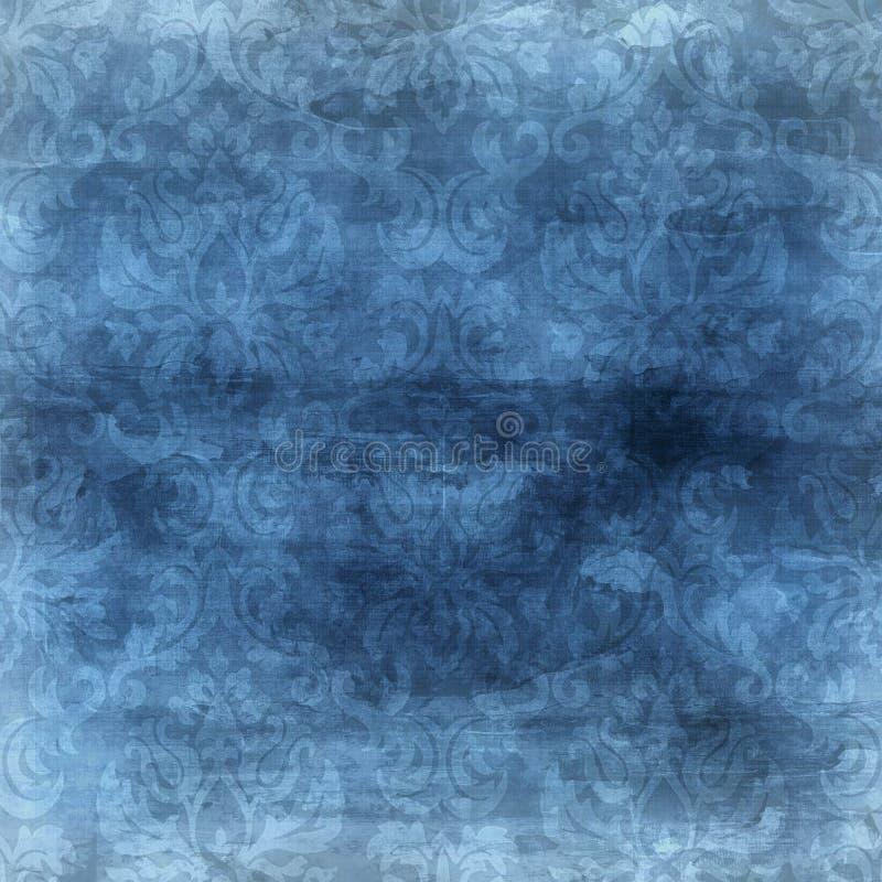 Priorità bassa blu del damasco illustrazione vettoriale