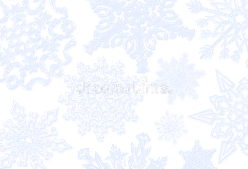 Priorità bassa blu del fiocco di neve illustrazione di stock
