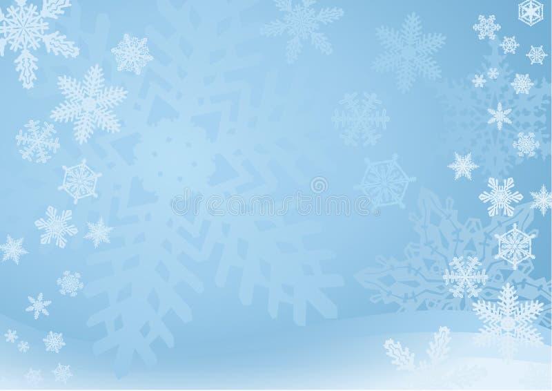 Priorità bassa blu del fiocco di neve royalty illustrazione gratis