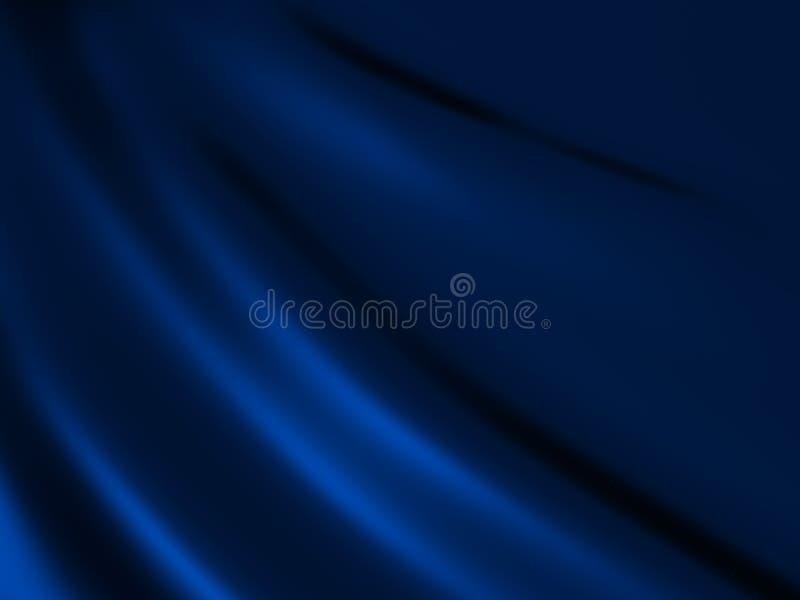 Priorità bassa blu del raso illustrazione vettoriale