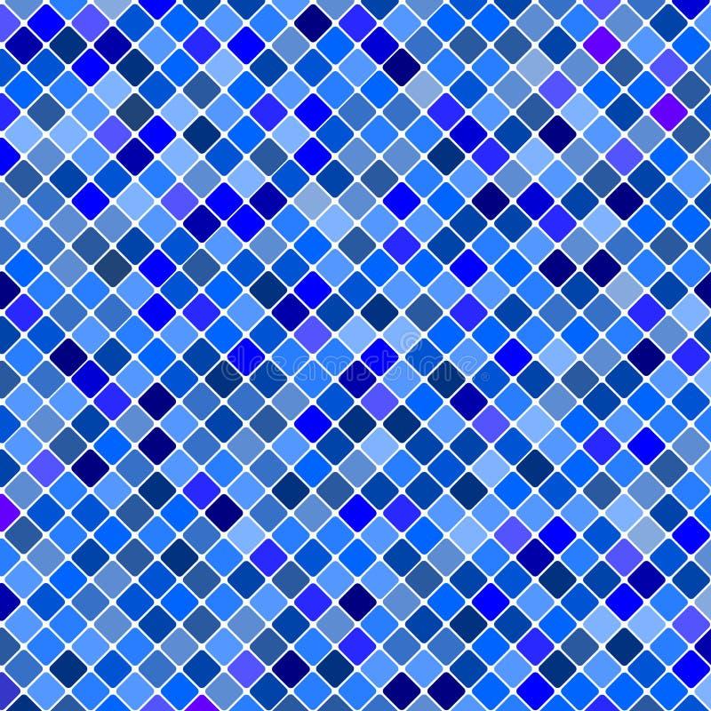 Priorità bassa blu del reticolo delle mattonelle. illustrazione di stock
