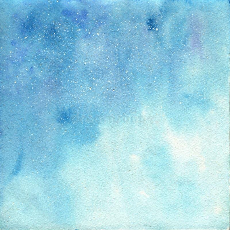 Priorità bassa blu dell'acquerello Struttura astratta dell'acquerello Struttura dell'acquerello per progettazione Dipinto a mano illustrazione di stock