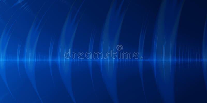 Priorità bassa blu dell'estratto dell'onda illustrazione di stock