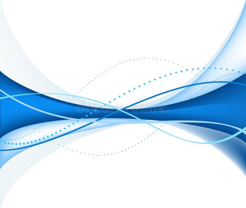 Priorità bassa blu dell'estratto di vettore illustrazione di stock
