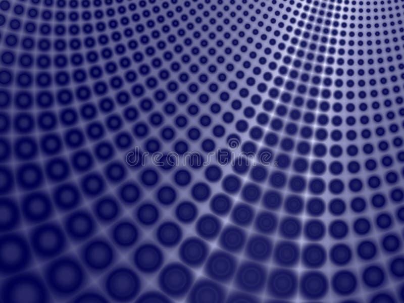 Priorità bassa blu della curva dei cerchi illustrazione vettoriale