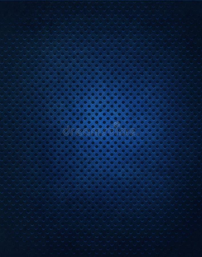 Priorità bassa blu della griglia del metallo illustrazione vettoriale