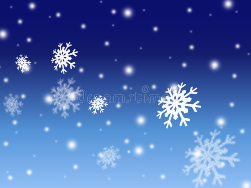 Priorità bassa blu della scheda della neve di natale illustrazione vettoriale