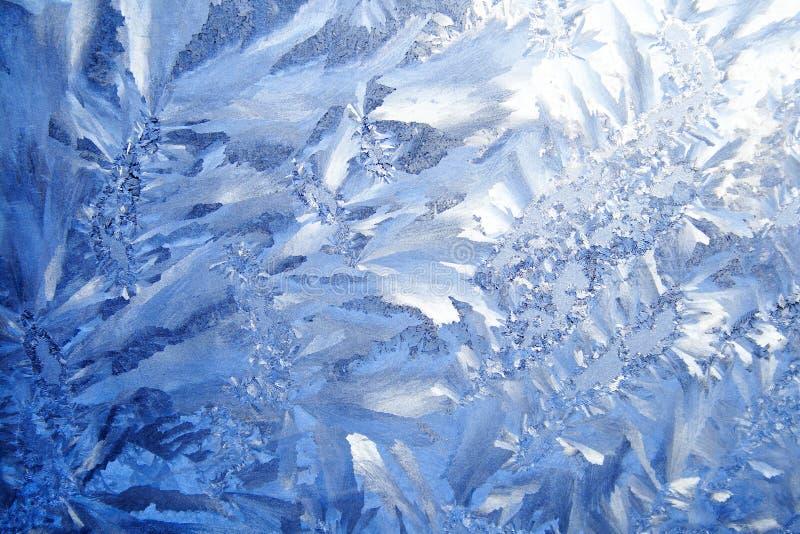 Priorità bassa blu di gelo fotografia stock libera da diritti