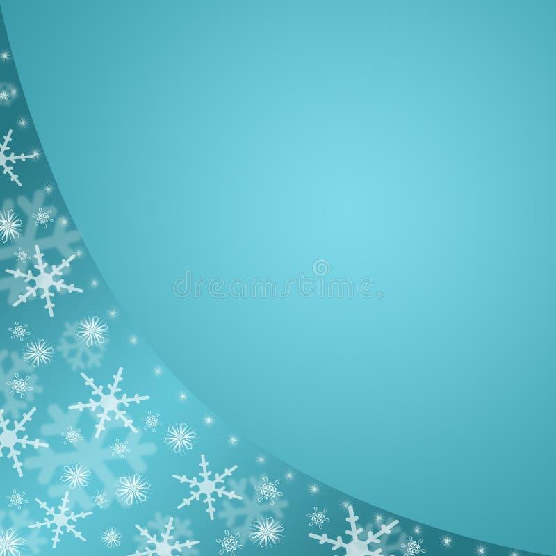 Priorità bassa blu di inverno illustrazione di stock