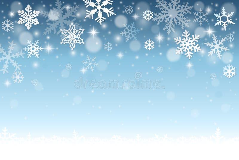 Priorità bassa blu di inverno illustrazione vettoriale