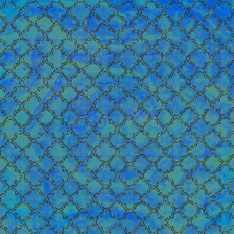 Priorità bassa blu e verde fredda del traliccio immagine stock