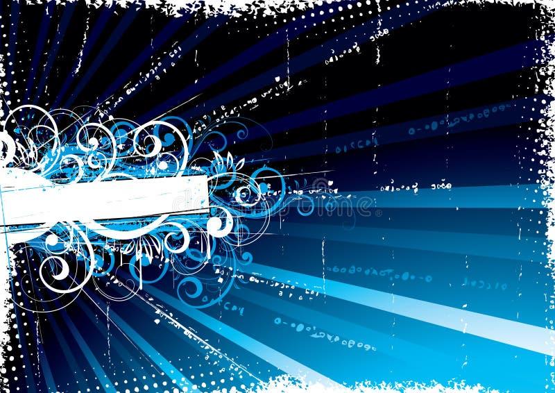 Priorità bassa blu Funky royalty illustrazione gratis