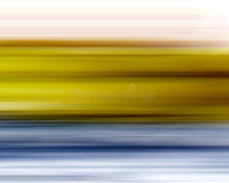 Priorità bassa blu gialla della sfuocatura royalty illustrazione gratis