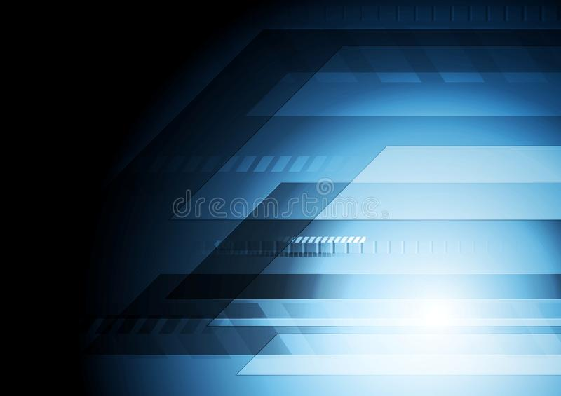 Priorità bassa blu scuro di tecnologia illustrazione di stock