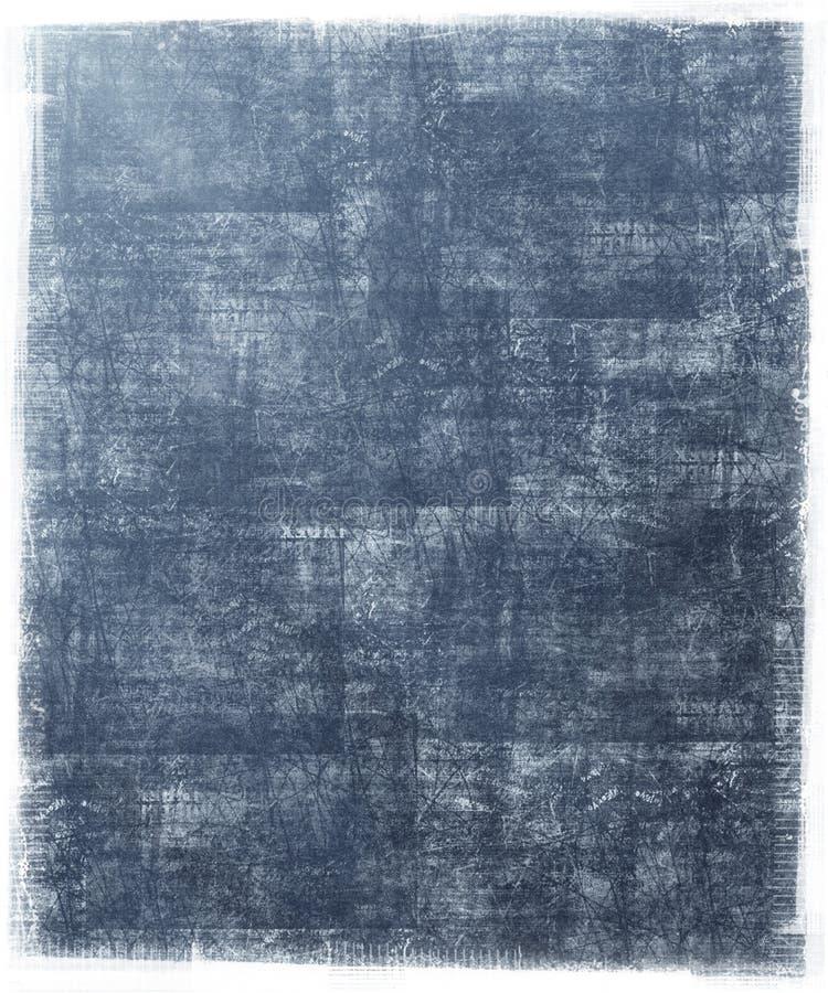 Priorità bassa blu sporca con il blocco per grafici di Grunge illustrazione di stock