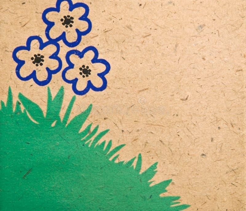 Priorità bassa/bordo semplici del fiore illustrazione vettoriale