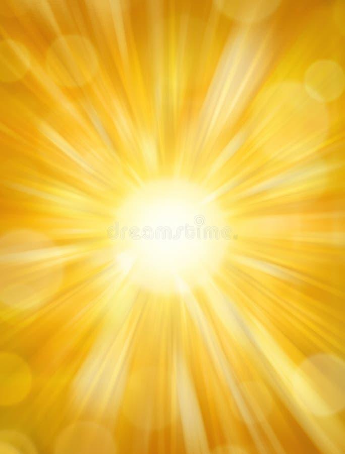 Priorità bassa brillante di Sun illustrazione di stock
