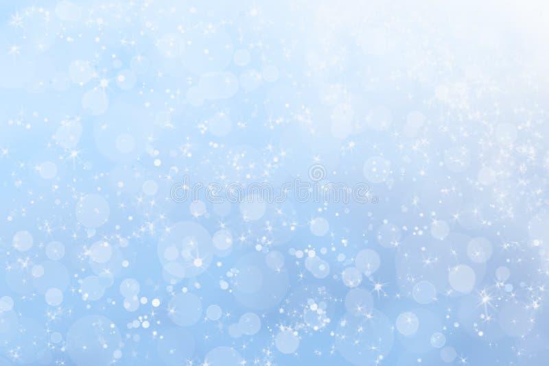 Priorità bassa celestiale del cielo di inverno grazioso illustrazione di stock