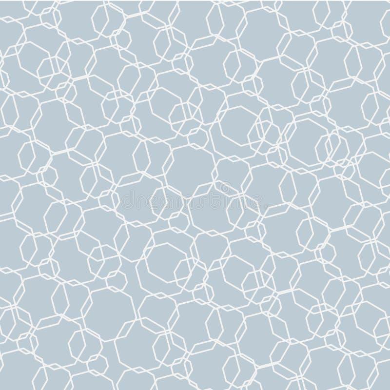 Priorità bassa chiara astratta Modello futuristico dei poligoni su un fondo grigio Elemento per progettazione dei modelli delle f illustrazione vettoriale