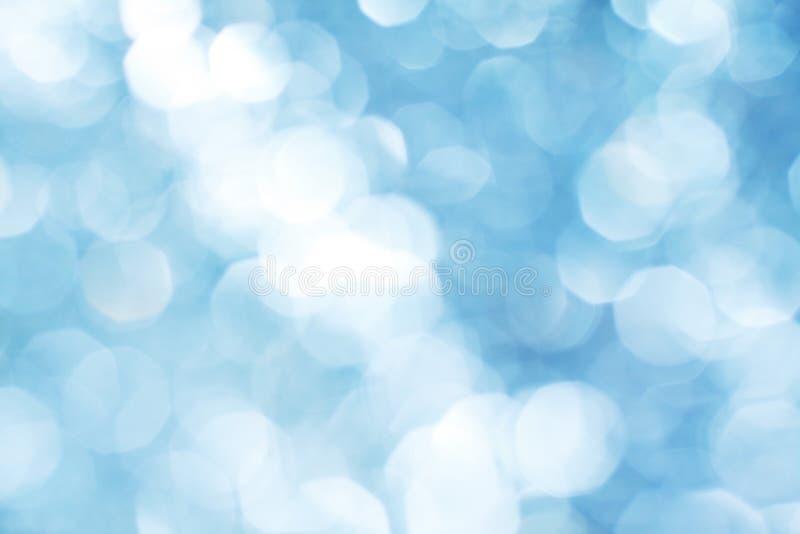Priorità bassa chiara blu di Bokeh immagine stock