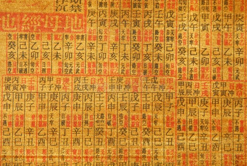 Priorità bassa cinese di calligrafia fotografia stock libera da diritti