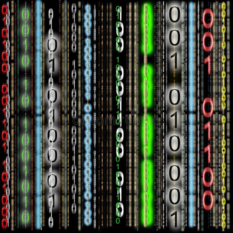 Priorità bassa, codice binario variopinto illustrazione di stock