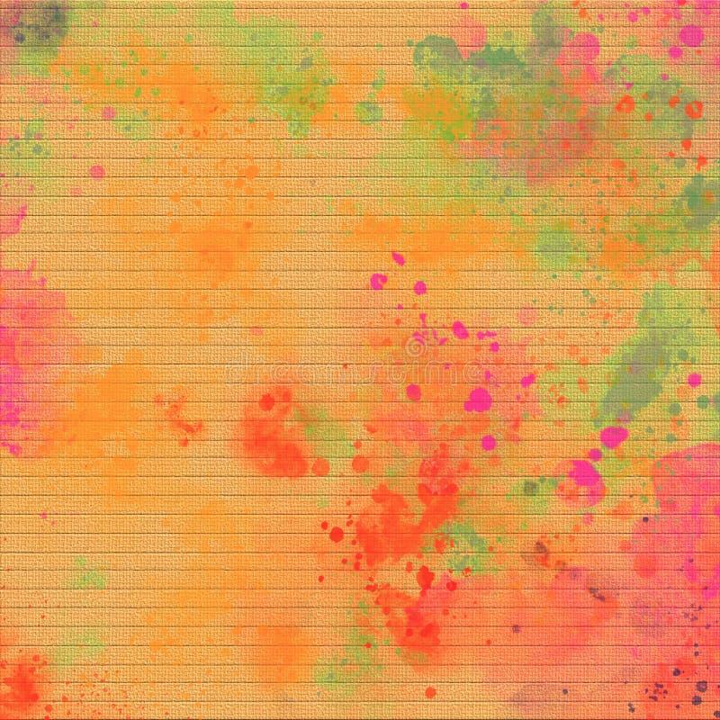 Priorità bassa colorata Rainbow Punti di colore di lerciume su tela Tema di Holi Priorità bassa variopinta astratta Spazio della  illustrazione di stock
